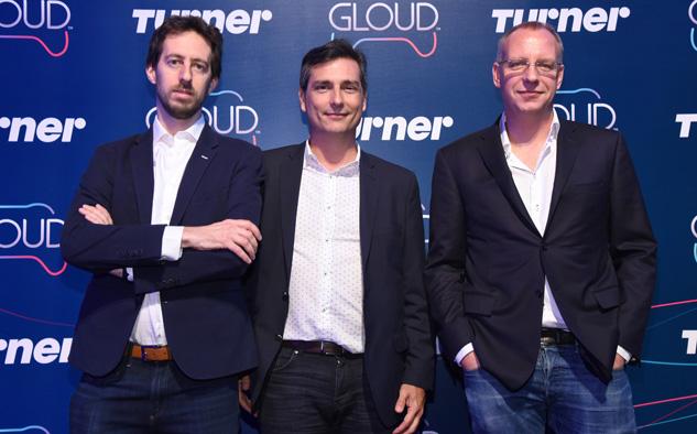 Lionel Zajdweber, Felipe De Stefani y Aksel van der Wal, en la presentación de Gloud.