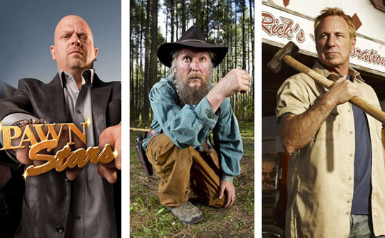 Pawn Stars, Mountain Men y American Restoration