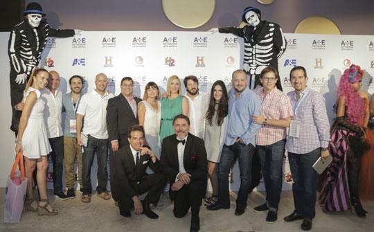 Ejecutivos y talentos de A&E Networks Latin America durante la convención en Playa del Carmen
