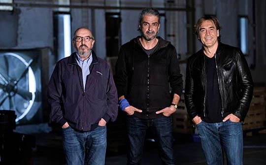 Jaume Roures, Fernando León de Aranoa y Javier Bardem, productores y protagonista central de la cinta española que va por un Oscar.