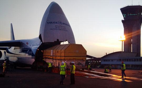 Intelsat 33e arribó al Centro Espacial de Guyana, en Kourou, Guyana Francesa
