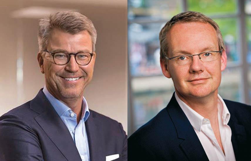 Anders Jensen, presidente y CEO de Nordic Entertainment Group (NENT Group), y David Lynn, presidente y CEO de Viacom International Media Networks.