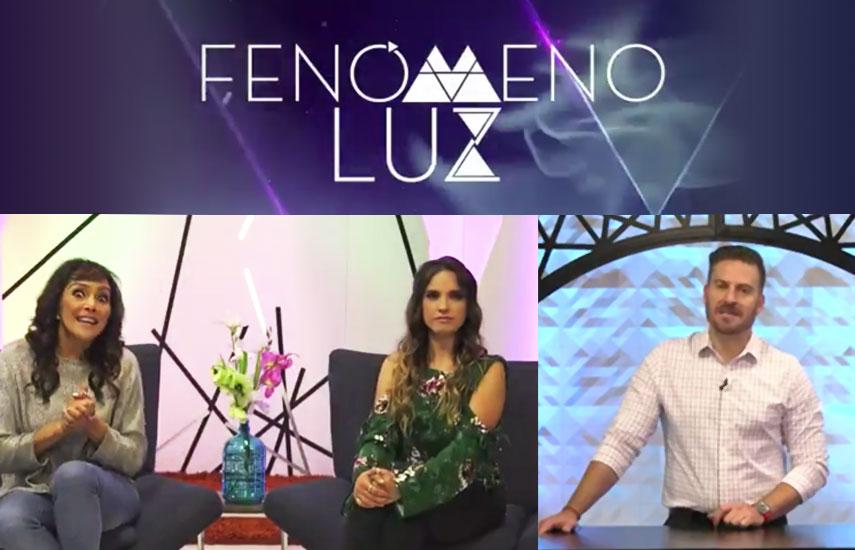 """En """"Fenomeno Luz"""" Daniel López Casarín acompañado por las expertas Anna Azuara y Andrea de la Mora, nos guían por temas de amor, salud, trabajo, dinero y energía."""