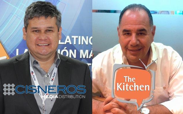 Cosme López, VP sénior y gerente general de Canales de TV Paga y Servicios de Cisneros Media Distribution, y Ken Lorber: presidente y CEO de The Kitchen.