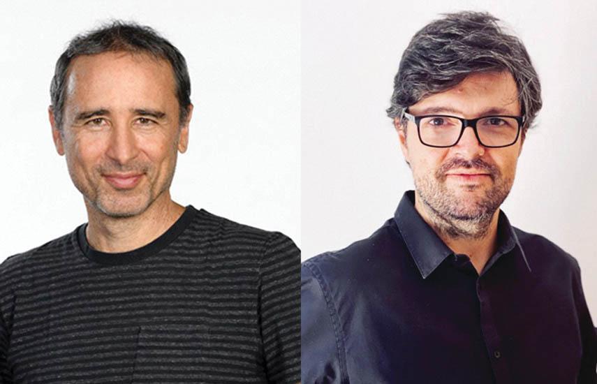 Jorge Edelstein, productor y fundador de Yellow Kigdom, y Martín Blasi, flamante fichaje de la productora.