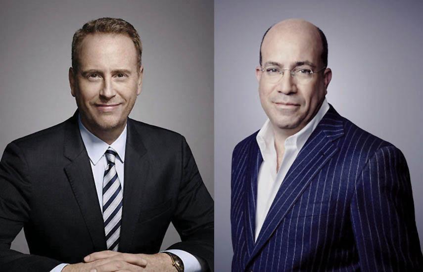 Robert Greenblatt, presidente de WarnerMedia Entertainment y Direct-to-Consumer, y Jeff Zucker, presidente de WarnerMedia News & Sports, y presidente de CNN.