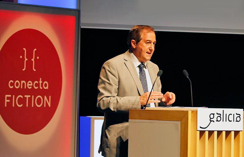 En representación de RTVE participó el director de TVE, Eladio Jareño, durante la inauguración del evento.