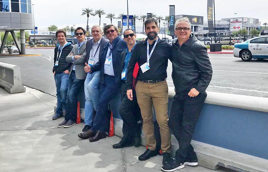 El equipo BVS NAB2019: Alberto Iarraburu, Julian Petrina, Diego Tanoira, Roberto Favelukes, Diego Prosdocimi, Federico Bruckl y Jose Lobo