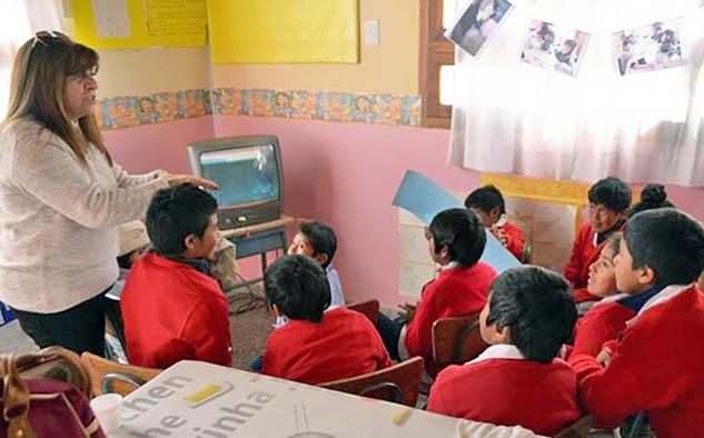 Alumnos de la escuela Nº 4327, san bernardo de las Zorras. (Fotos: soydirectv.com.ar)