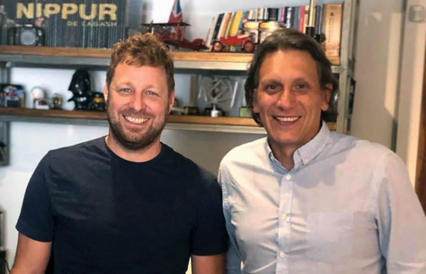 El socio fundador de Kapow, Agustín Sacanell y Gerardo Brandy, director de Nippur Media.
