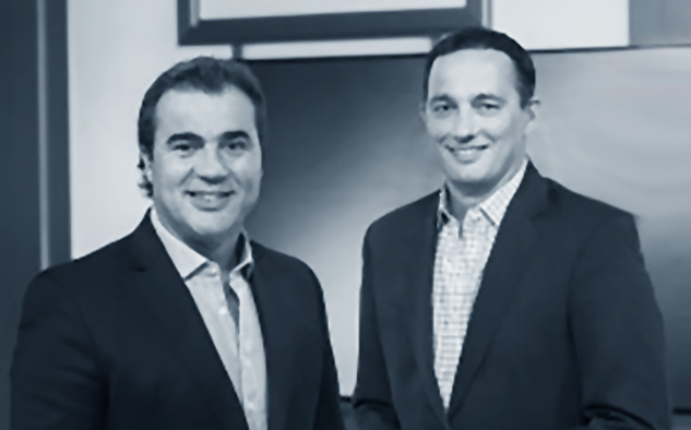 Los nuevos conductores del programa Guillermo Poggi y Fernando Carlos.