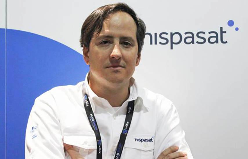 Iñaki Latasa, de la Dirección de Comunicación de Hispasat.