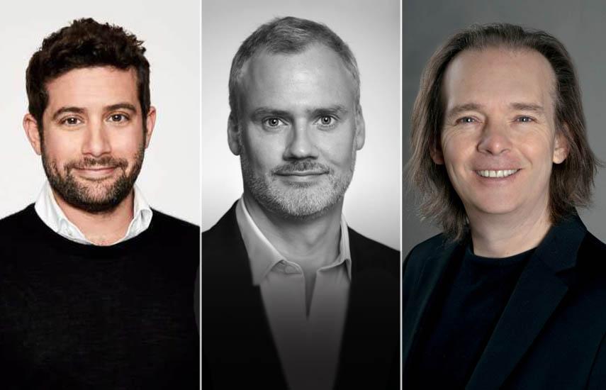 Joe Lewis, Humphrey Black y Mariano Kon, flamantes incorporaciones de la compañía basada en Londres.