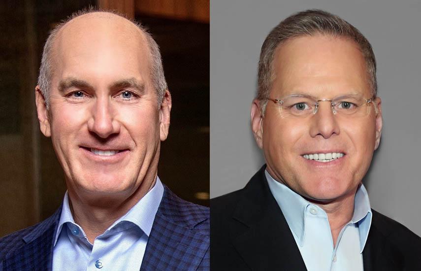 John Stankey, CEO de AT&T, y David Zaslav, actualpresidente y CEO de Discovery, y nuevo CEO de la compañía fusionada.