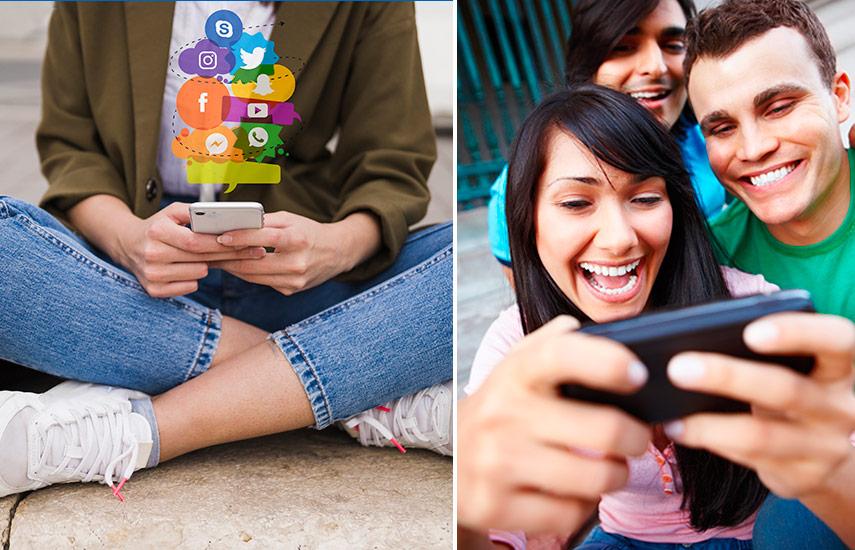 En efecto, los hispanos dedican drásticamente más tiempo, por caso, a escribir textos en sus smartphones, escuchar música, utilizar video juegos, video chatt y usar internet, si se los compara con otros colectivos.
