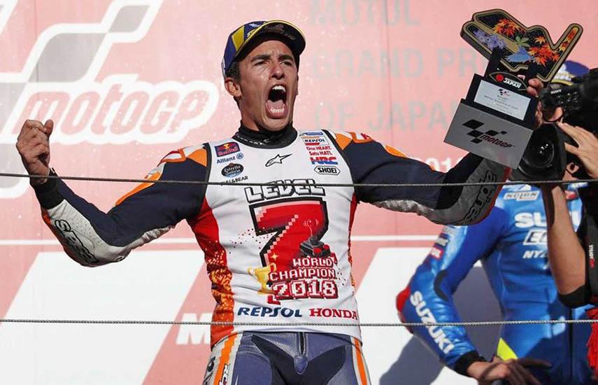 Marc Márquez, piloto de motociclismo español cinco veces ganador en MotoGP.