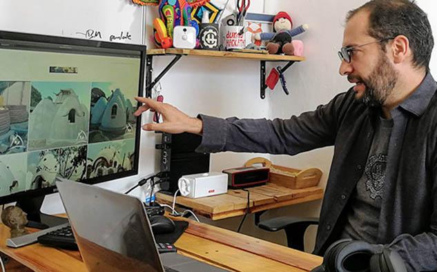 Luis Daniel Beltrán Girón -México- clasificó con su proyecto de vivienda antisísmica.