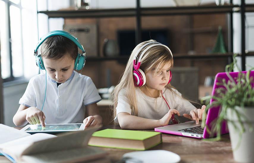 El trabajo sobre consumo audiovisual ampliado (películas, series, video, redes sociales y videojuegos), comprendió a chicos y chicas de 3 a 14 años de toda la región. (foto: freepik)