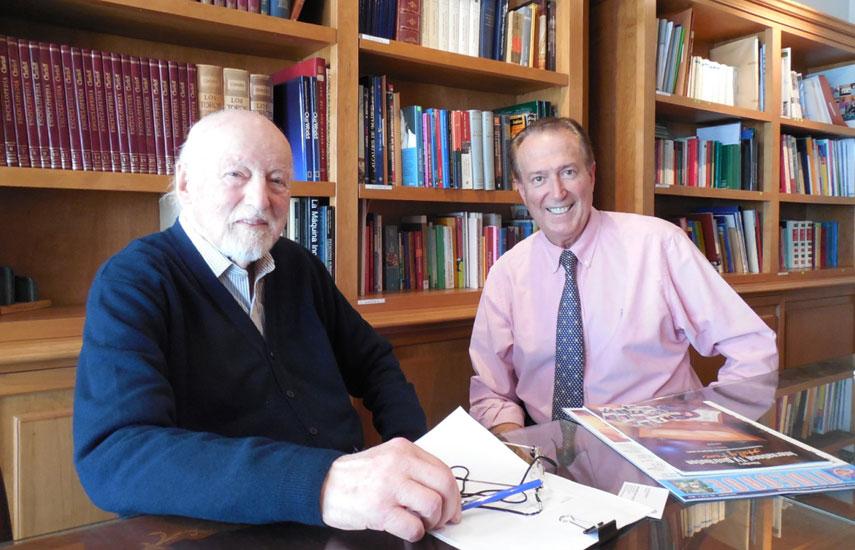 Pedro Simoncini junto a Dom Serafini, editor de VideoAge International.