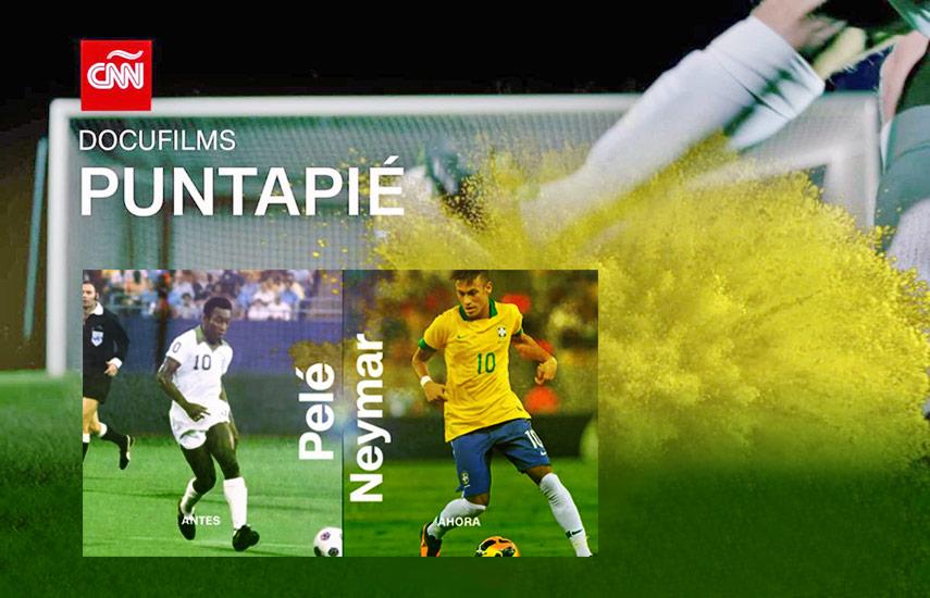 """""""Puntapié"""" es un bio documental producido por Sabbatical Entertainment, que muestra cómo cada generación, en los cafés de las grandes ciudades alrededor del mundo, frente a las pantallas de la televisión o en los estadios más concurridos, ofrece argumentos para defender el legado de sus ídolos."""
