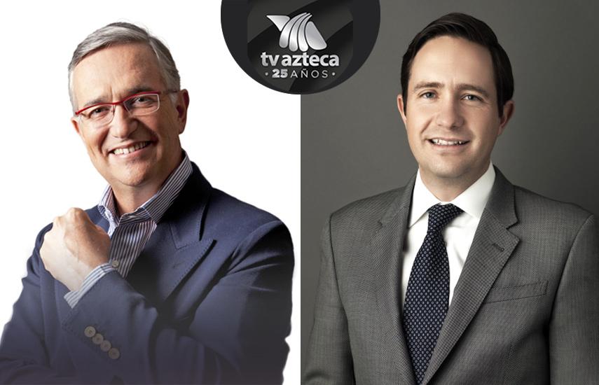 Ricardo Salinas Pliego, fundador de Tv Azteca y Benjamin Salinas Sada, su sucesor al frente del cambio estratégico y generacional que le ha dado otro impulso al grupo en México y en el mundo.