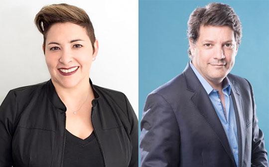 Lourdes Díaz Presidenta de Entretenimiento y Adrian Santucho vicepresidente ejecutivo de Univision Studios