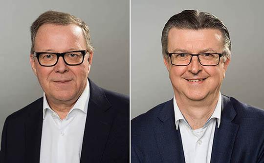 Dos líderes de SES en retirada: Ferdinand Kayser y John Purvis.