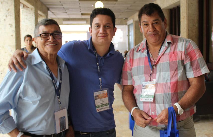 Raúl Lara de Mataro, Jorge Rojas de Super TVElectronic y Juvenal Romero de MASTV Producciones.