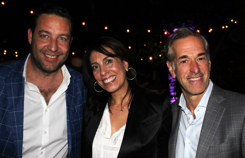 Francisco Giménez de Hemisphere, Sandra Lee de BBC Worlwide y Alan Sokol, CEO de Hemisphere