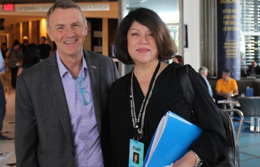 JP Bommel y Suzanne Gutierrez, Presidente y VP de NATPE