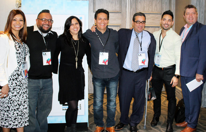 Aurora Bacquerie, Manny Saldivar, María Luz Zucchella, Arturo Chavez, Yeshuah Castillo, Carlos López y John Baghdassarian todos de Olympusat.