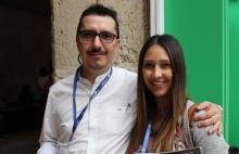 José Fernando Zapata y María Patricia Arias de la Autoridad Nacional de Televisión de Colombia.