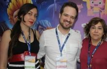 Cristina Cuadros de DHE Group, David Priego y Cecilia Lera Astolfi de RTVE