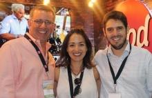 Mauro Paéz Pumar, Nora Abrego y Eduardo Hausen de Food Network.